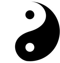 Yin yang decorative symbol vector