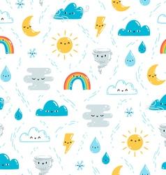 Fun weather pattern vector image