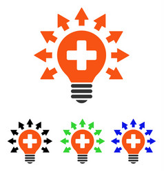 Disinfection lamp flat icon vector