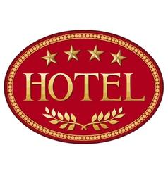 hotel label design vector image vector image