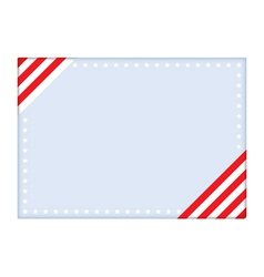 Independence Day postcard vector image