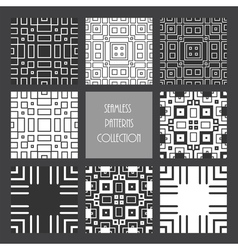 monochrome repeated square collection vector image