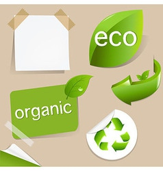 Set Of Eco Friendly Labels vector image