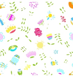 Abstract floral pattern for your design vector image vector image