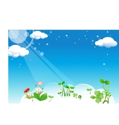 Floral Cloud vector image vector image
