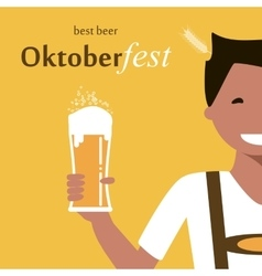 Oktoberfest Man with Beer vector image
