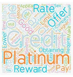 Platinum Credit Cards Are What You Want To Have vector image