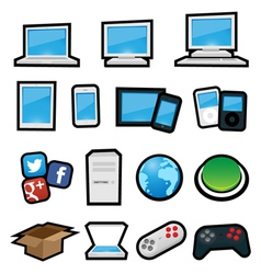 Cartoon Computers vector image vector image