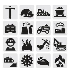 coal icon vector image
