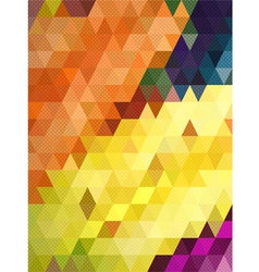 Colorful triangle with dot texture background vector image vector image