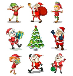 Different christmas templates vector image