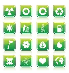 environmental signs vector image vector image