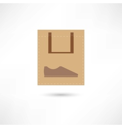 new shoes in bag vector image