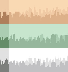 Set of an original city silhouette vector image