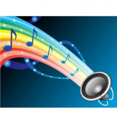 sound of rainbow vector image vector image