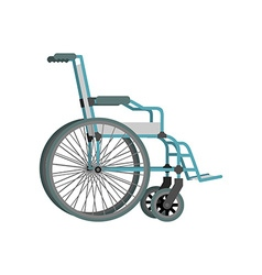 Wheelchair on white background Means of vector image