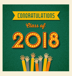 2018 graduation card design vector image