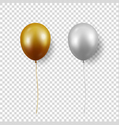 3d realistic glossy metallic gold silver vector image