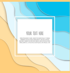 Abstract blue sea and beach summer background with vector