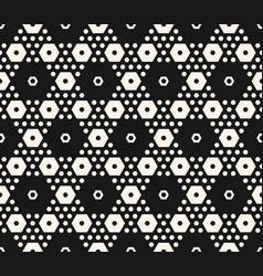 Abstract geometric seamless hexagonal pattern vector