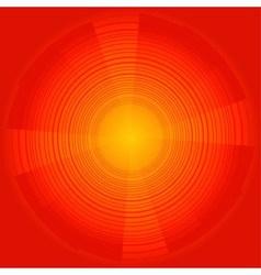 Abstract technology circles dark orange bac vector