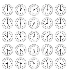 Analogue-time-clocks vector