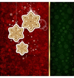 Background with Christmas decoration and vector image