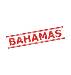 Bahamas seal with corroded style and double vector