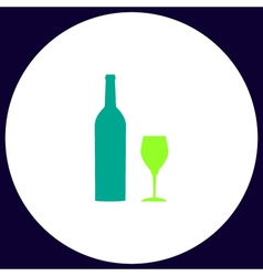 Bottle and glass computer symbol vector