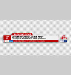 Breaking news live banner on background vector