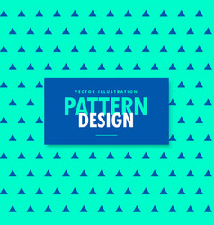 Bright blue background with trianhle patterns vector