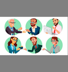 Business people in a hole behavior concept vector