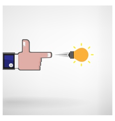 businessman hand shooting creative light bulb vector image