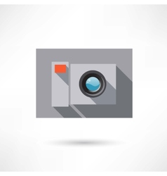 Camera in a flat design icon vector