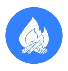 Campfire icon in black style isolated on white vector