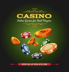 Casino online background vector