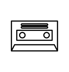 cassette retro isolated icon vector image