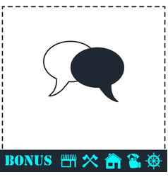 chat icon flat vector image