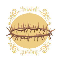 Christ thorns crown vector