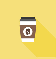coffee paper or plastic glass icon vector image
