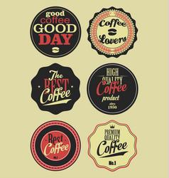 coffee vintage retro labels 2 vector image
