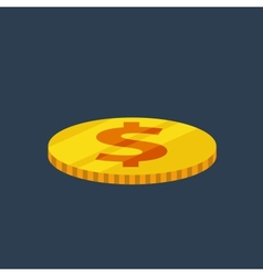 Coin flat icon vector
