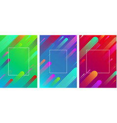 colorful backgrounds with frame and geometric vector image