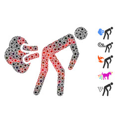 Coronavirus collage fart gases icon vector