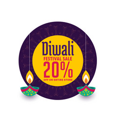 Creative sale banner for diwali festival vector