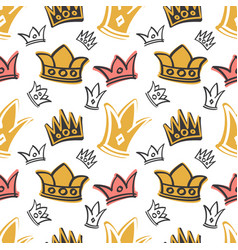 cute princess birthday seamless pattern vector image