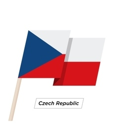 czech republic ribbon waving flag isolated vector image