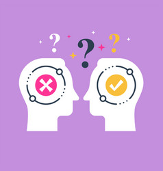 Decision making opinion poll bias and mindset vector