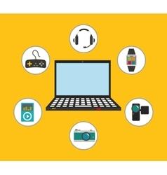 Digital era technology vector