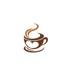 drink coffee logo icon design vector image